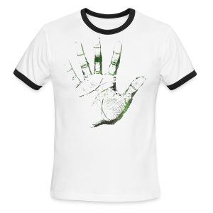 Hand of F.A.I.T. Series - Moirae Ringer - Men's Ringer T-Shirt