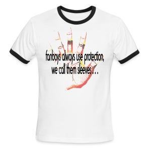Hand of F.A.I.T. Series - FanBoy Ringer - Men's Ringer T-Shirt