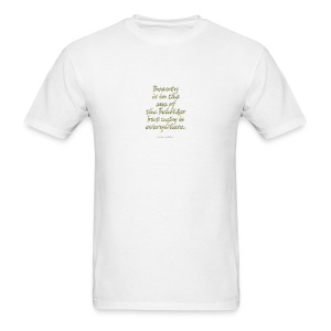 Poetry T-Shirt Beauty Poetry Shirt - Men's T-Shirt