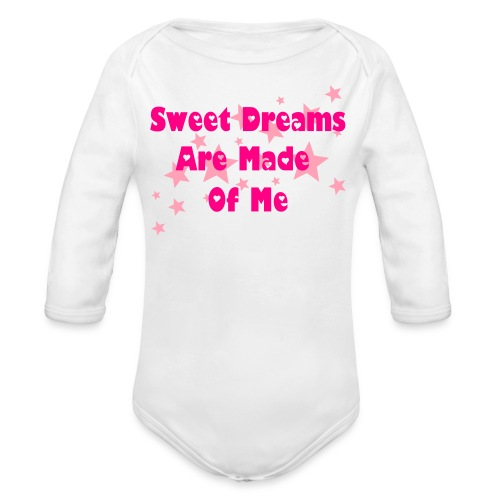 Sweet Dreams Pink - Organic Long Sleeve Baby Bodysuit