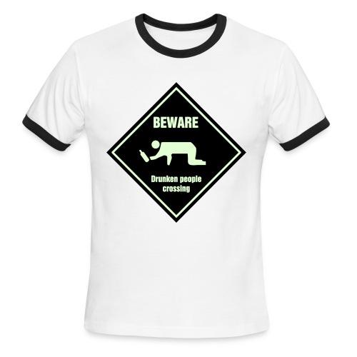 WARNING! - Men's Ringer T-Shirt