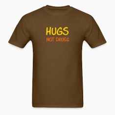 Brown hugs not drugs T-Shirts