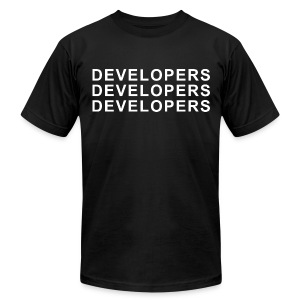 Developers Developers Developers T-Shirt  - Men's Fine Jersey T-Shirt