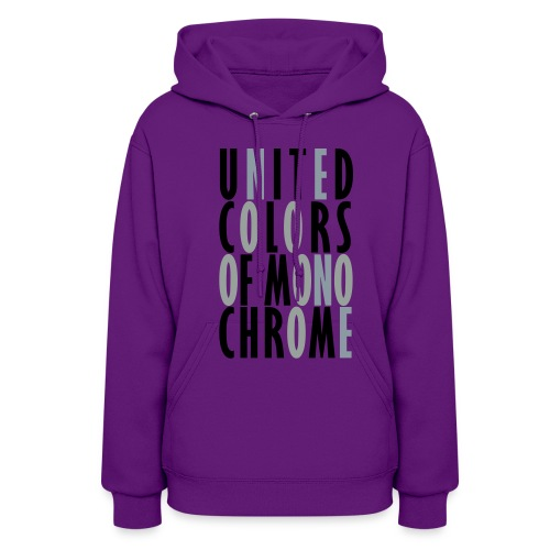 United Colors of Mono Chrome Hoodie for Women - Women's Hoodie