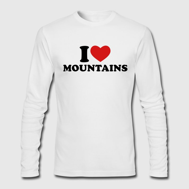 White I Love Mountains Long Sleeve Shirts - Men's Long Sleeve T-Shirt by Next Level