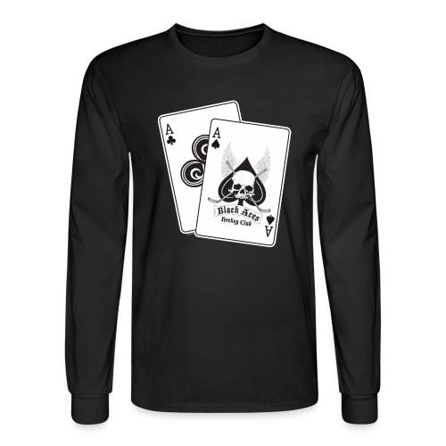 Black Aces Hockey Club - Cards - Men's Long Sleeve T-Shirt