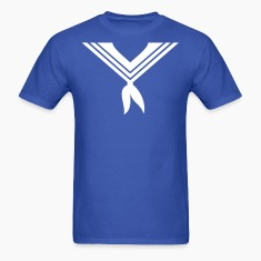 Royal blue sailor collar (1c) T-Shirts