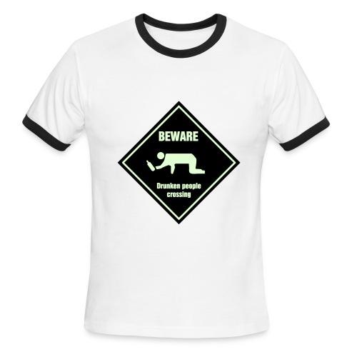 Drunken Graffic T - Men's Ringer T-Shirt
