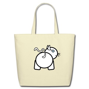 Baby Got Back - Kitty Tote Bag for Women - Eco-Friendly Cotton Tote