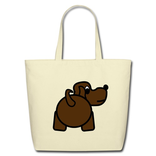 Baby Got Back - Doggy Tote Bag for Women - Eco-Friendly Cotton Tote