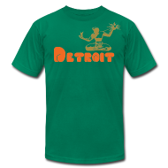 T-Shirts ~ Men's T-Shirt by American Apparel ~ Spirit of Detroit Men's American Apparel Tee