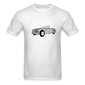 Retro Car T-Shirt (Grey) - Men's T-Shirt