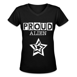 Proud Alien - Women's V-Neck T-Shirt
