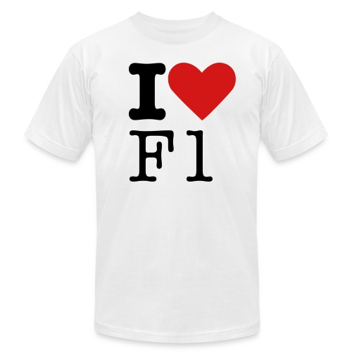 I Love F1 Shirt - Men's Fine Jersey T-Shirt
