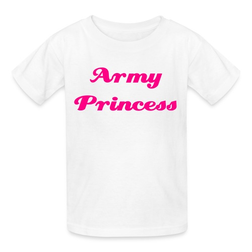 White Army Princess Tee - Kids' T-Shirt