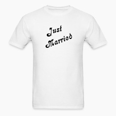 White Just Married T-Shirts