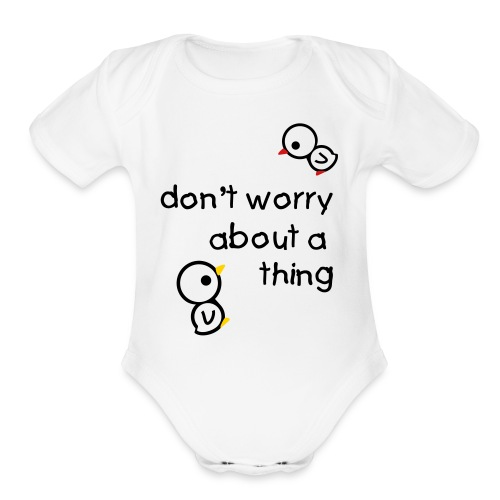 Three Little Birds  - Organic Short Sleeve Baby Bodysuit
