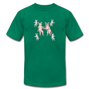 Dancing pigs - Men's T-Shirt by American Apparel