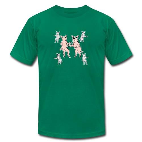 Dancing pigs - Men's Fine Jersey T-Shirt