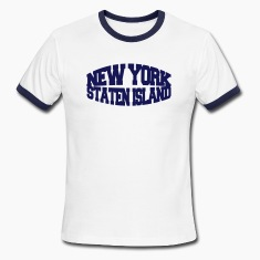 White/navy new york staten island T-Shirts