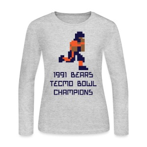 Tecmo Walter Bears Champs Women's Long Sleeve Jersey Tee - Women's Long Sleeve Jersey T-Shirt