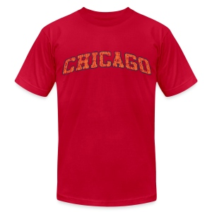 Chicago Vintage Cracked Men's American Apparel Tee - Men's T-Shirt by American Apparel