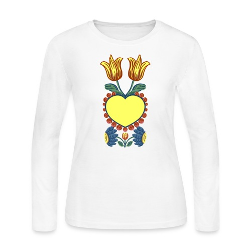Faith, Hope, Charity & Love - Women's Long Sleeve Jersey T-Shirt