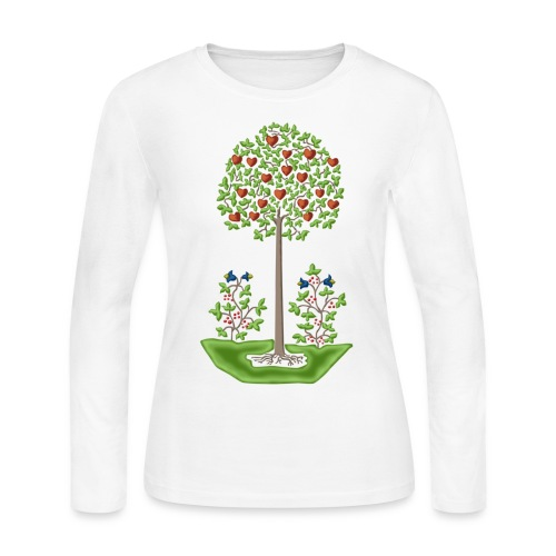 Tree of Love - Women's Long Sleeve Jersey T-Shirt