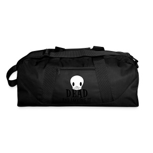 Dark red dead and loving it SKULL emo fashion Bags  - Duffel Bag