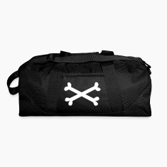 Dark red plain white music metal pirate crossbones Bags