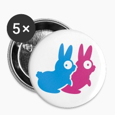 White kamasutra rabbits (A, 2c) Buttons