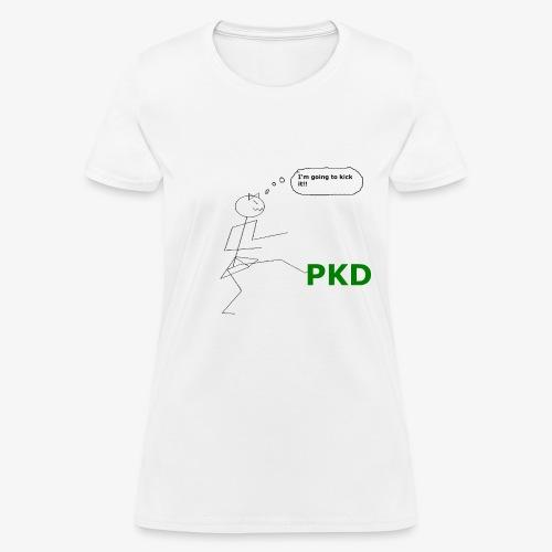 White Kicking PKD Women's T-Shirts - Women's T-Shirt