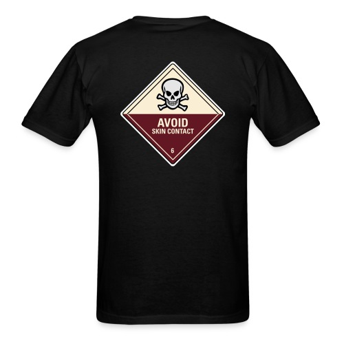 Avoid Skin Contact (Back) - Men's T-Shirt