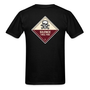 Silence I Kill You (Back) - Men's T-Shirt