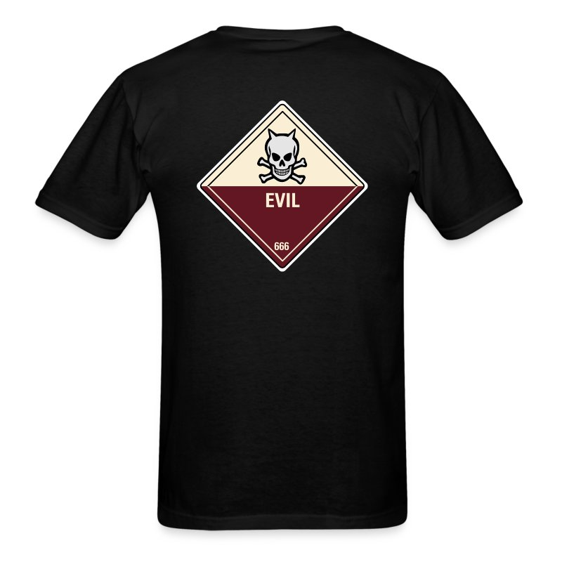 Evil (Back) - Men's T-Shirt