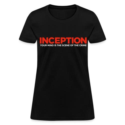 Inception, Your Mind (Women) w/ URL on Back  - Women's T-Shirt