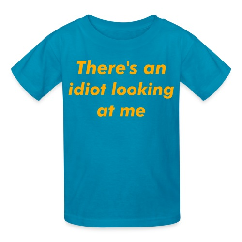 Idiot looking - Kids' T-Shirt