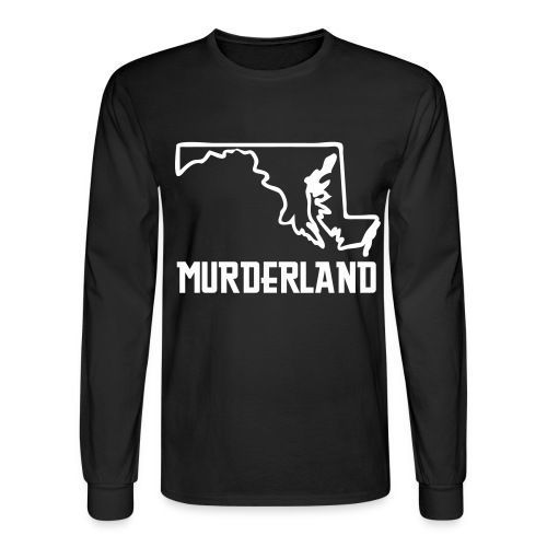 MURDERLAND TEE - Men's Long Sleeve T-Shirt