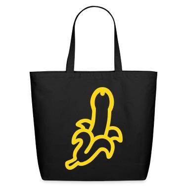 Black Freudian Banana Penis Bags
