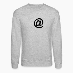 Heather grey at @ symbol Long Sleeve Shirts