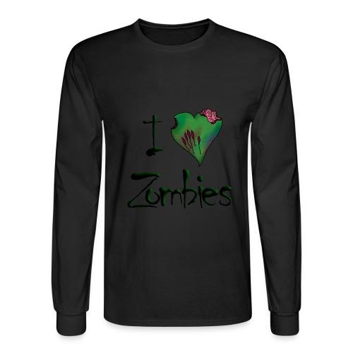 I love zombies - mens long sleeve shirt - Men's Long Sleeve T-Shirt