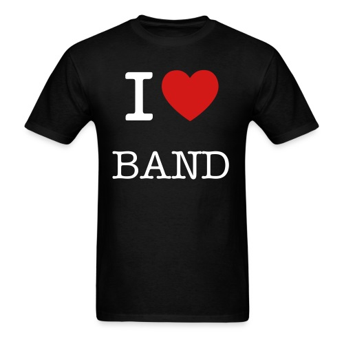 I Love Band - Men's T-Shirt