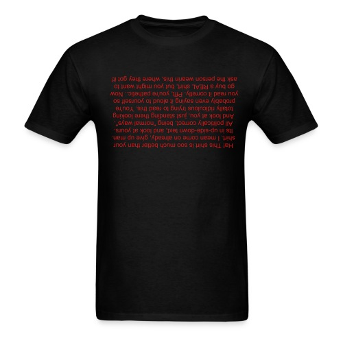 Up-side-down Insult Tee (PG) - Men's T-Shirt
