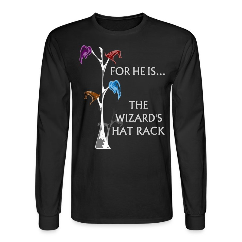 Wizard's Hat Rack - FanBoy Long Sleeve - Men's Long Sleeve T-Shirt