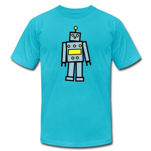 Robot in Blue  T-Shirt for Men - Men's T-Shirt by American Apparel