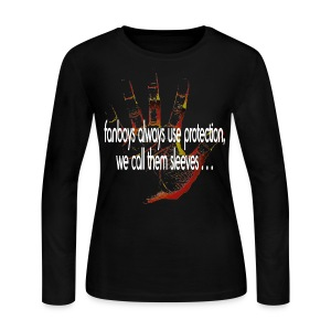 Hand of F.A.I.T. Series - FanBoy Long Sleeve - Women's Long Sleeve Jersey T-Shirt