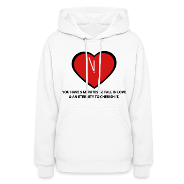 White Time To Love  By VOM Design - virtualONmars Hoodies