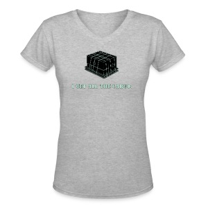 Gets all the Cargo - Women's V-Neck T-Shirt