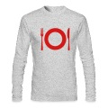 Heather grey Cutlery - Plate Long Sleeve Shirts