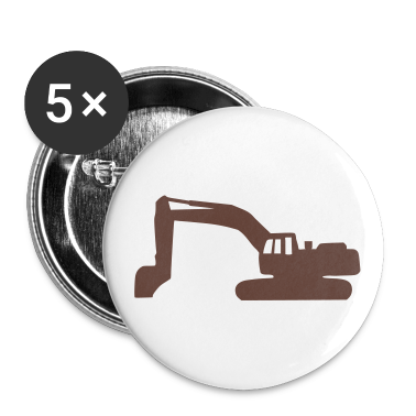 White Digger - Excavator Buttons